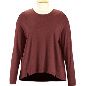 Alchemy Equipment Long Sleeve Pleated Relaxed - T-shirt manches longues Femme - rouge